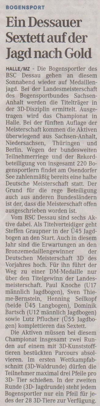 Ankündigung LM 3D – Mitteldeutsche Zeitung vom 11.04.2013