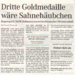 Ankündigung DM 3D in  Wendershausen – Mitteldeutsche Zeitung vom 23.09.2005