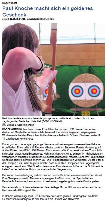 DM Fita Halle in Döbeln – Mitteldeutsche Zeitung vom 23.03.2011