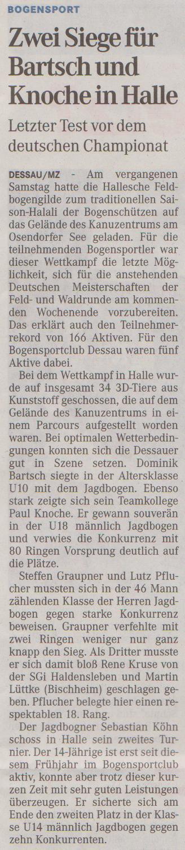 Halali in Halle – Mitteldeutsche Zeitung vom 19.09.2012