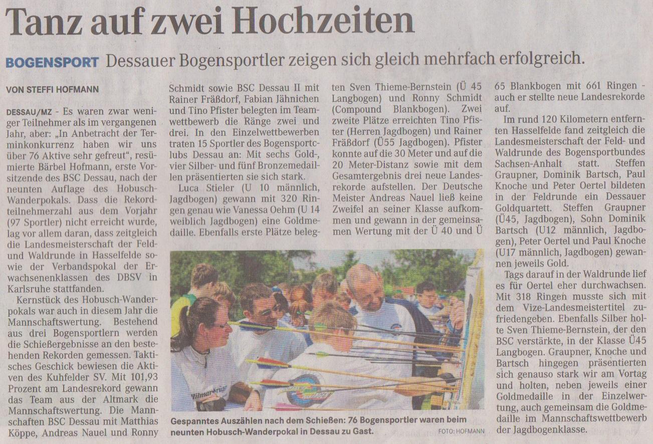 9. Hobusch-Wanderpokal / LM Feld- u. Waldrunde – Mitteldeutsche Zeitung vom 21.05.2014
