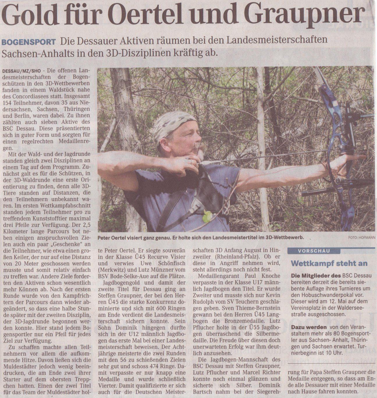 LM 3D in Hoym – Mitteldeutsche Zeitung vom 03.05.2012