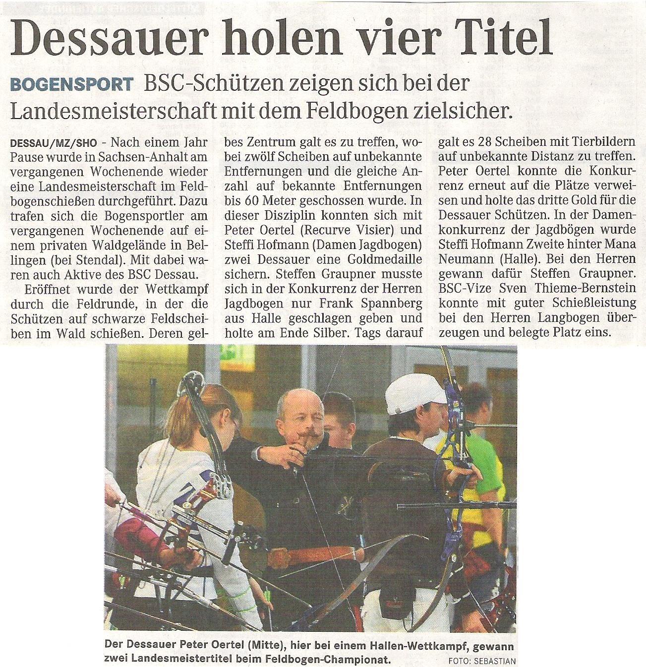 LM Feld- und Waldrunde – Mitteldeutsche Zeitung vom 22.04.2009