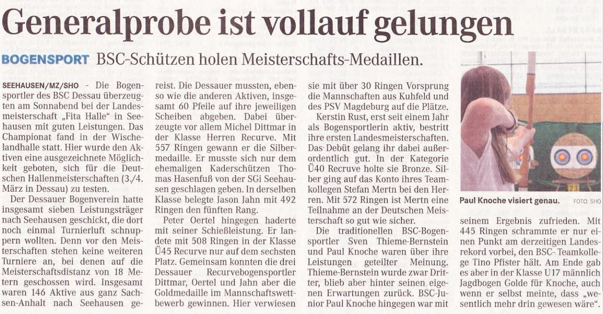 LM Fita Halle – Mitteldeutsche Zeitung vom 25.01.2012
