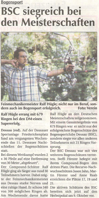 Dessauer Nachtschießen – Super Sonntag vom 02.10.2005