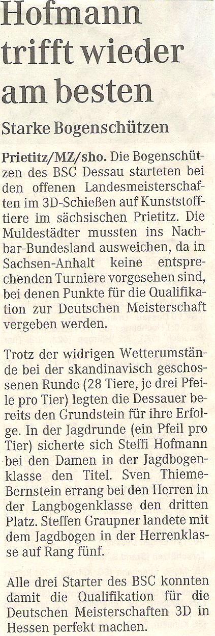 LM 3D Prietitz (Sachsen) – Mitteldeutsche Zeitung vom 05.05.2008