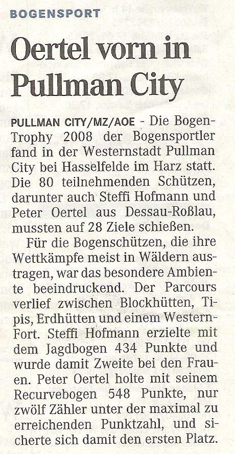 Pullman City – Mitteldeutsche Zeitung (September 2008)
