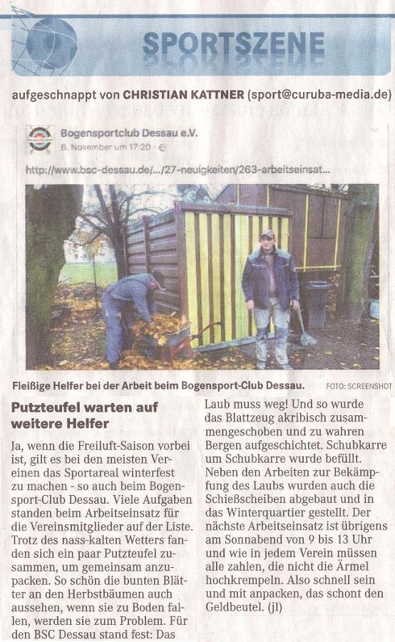 Die Putzteufel – Mitteldeutsche Zeitung vom 12.11.2016