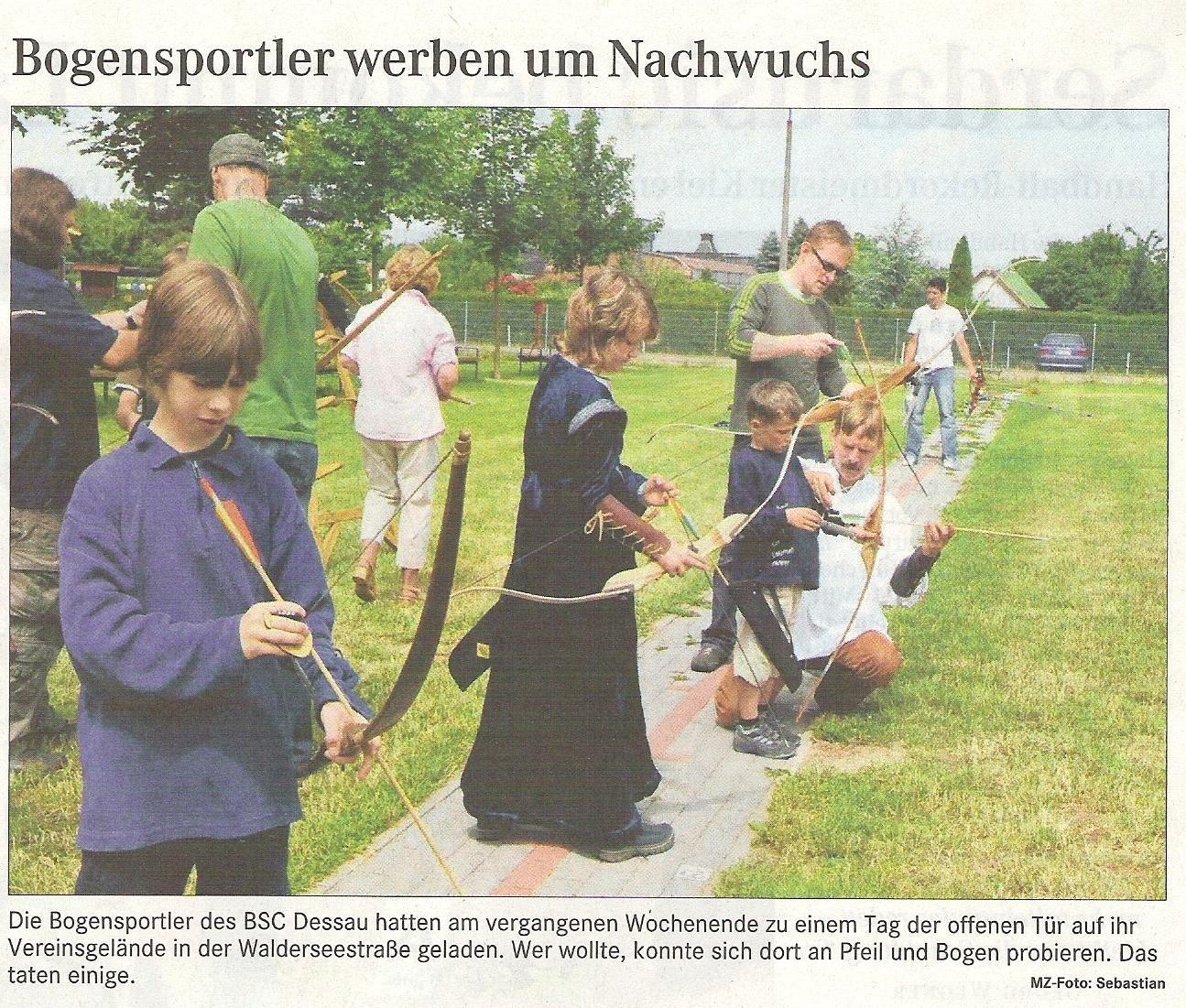 Tag der offenen Tür – Mitteldeutsche Zeitung vom 27.06.2008