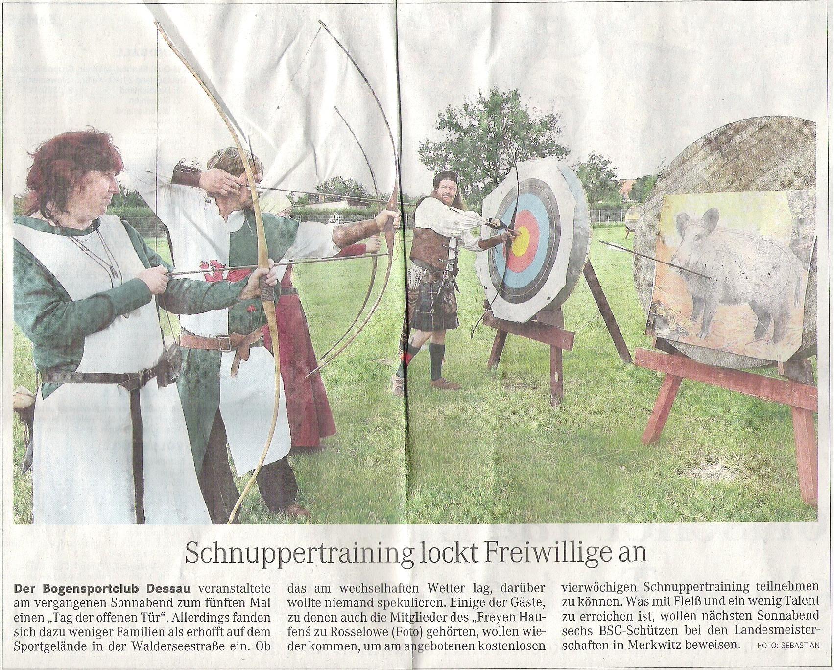 Tag der offenen Tür – Mitteldeutsche Zeitung vom 22.06.2009